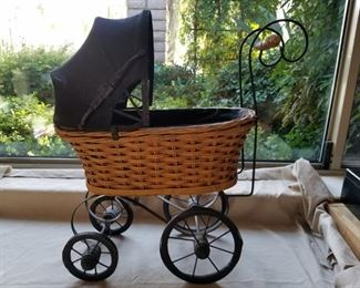 Small vintage baby buggy