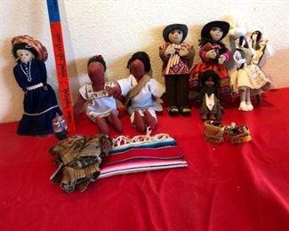 Native and Peruvian dolls