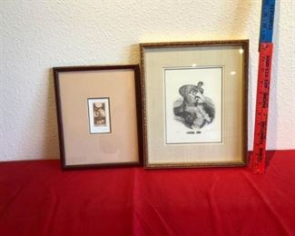 Two small signed artwork