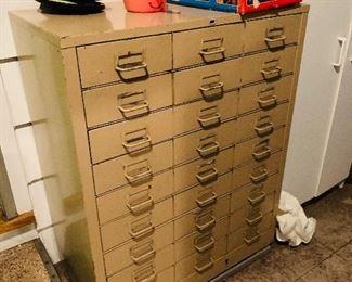 30 drawer metal file cabinet