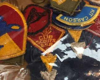 Boy Scout and Girl Scout patches