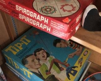 vintage Spirograph, board games