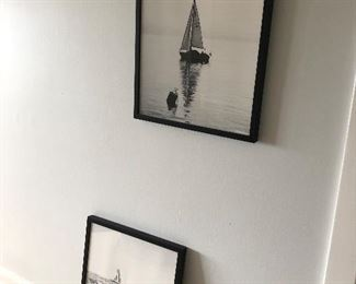 pair of sailing photos for sale