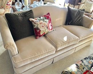 cream sofa, excellent condition