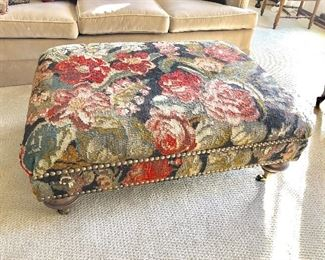 Large floral footstool/coffee table