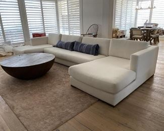 Restoration Hardware Maddox Linen Sofa