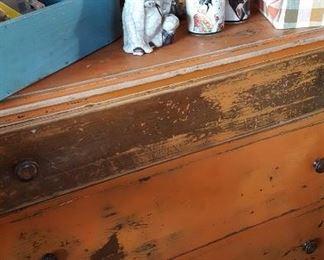 Painted primitive chest