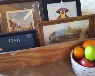 Carpenter's tray and art