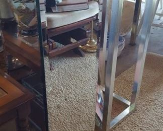Mirror and chrome pedestals