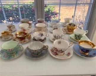 Antique teacups