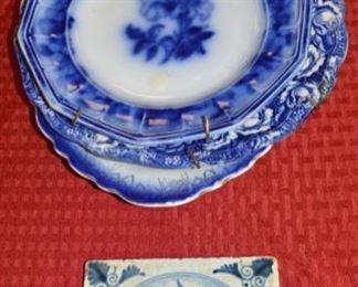 Flow Blue China, Antique