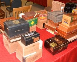 Wooden Cigar Boxes, LOTS