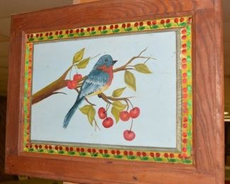 Antique Primitive Painted Piece