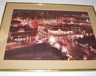 Country Club Plaza Kansas City Christmas Lights Signed and Framed Photo