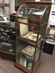 A glass display cabinet.