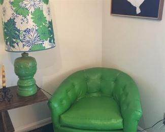 Mid Century lamp & chair