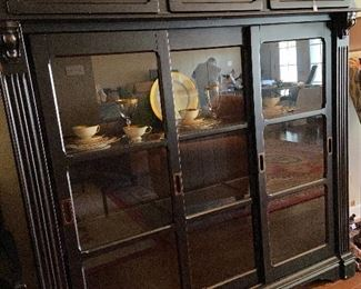 Like new hutch with interior lighting.