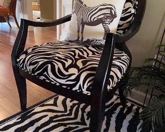 Pair of these zebra chairs.