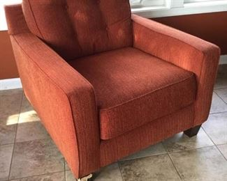 ''Ashley Furniture'' Orange Armchair https://ctbids.com/#!/description/share/289221