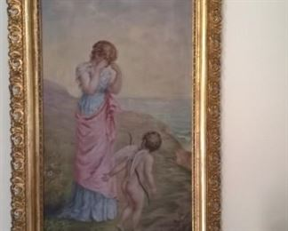 Beautiful painting in gold tone frame