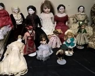 A huge selection of Vintage dolls
