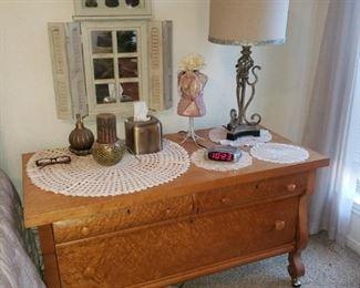Burl Oak Short Dresser