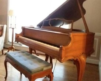 Country french styled Kimball baby grand piano!
