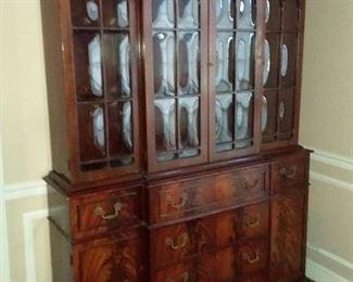 Extraordinary  break-away china cabinet with hidden desk!