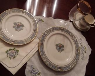 Six full place settings, including stem-ware, and linens, as shown. Autumn,  by Lenox