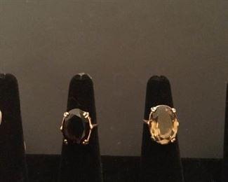 Two Topaz 14K Rings https://ctbids.com/#!/description/share/290573