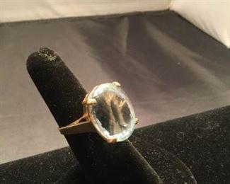 14K Aquamarine Ring https://ctbids.com/#!/description/share/290576