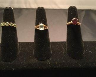 Three 14K Gemstone Rings https://ctbids.com/#!/description/share/290577