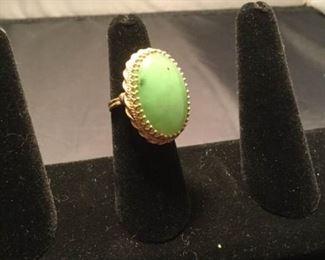 18k Green Aventurine Ring https://ctbids.com/#!/description/share/290581