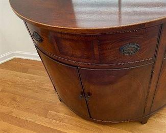 Antique Mahogany Inlay Bombay Style Dresser/Commodes ( 2)