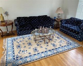 Living Room. Karastan Tan Dynasty Chinese Wool Room Rug 6x9