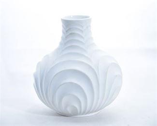 18. Heinrich Germany White Bisque Porcelain Vase