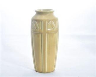 22. Rookwood Pottery Rooks Vase in Mustard Yellow