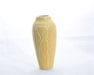 26. Rookwood Pottery Mustard Yellow Leaf Vase