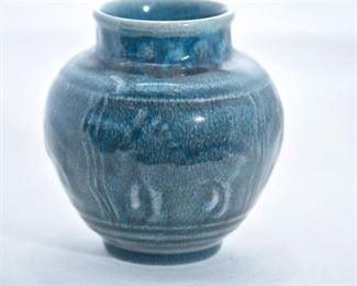 27. Rookwood Pottery Blue Horse vase