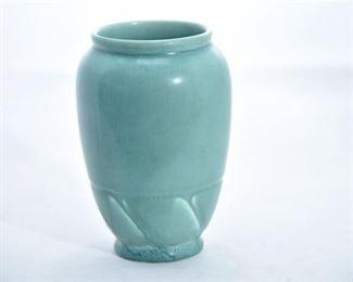 28. Rookwood Pottery Incised Matte Green Vase