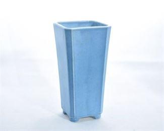 34. Rookwood Pottery Matte Blue Squared Vase
