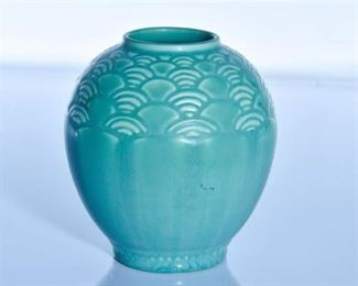 51. Rookwood Pottery Matte Green Shell Pattern Vase
