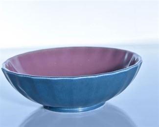 54. Rookwood Pottery Blue and Mauve Glazed Bowl