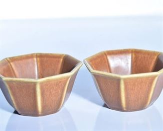 58. Pair of Rookwood Pottery Octagonal Bowls