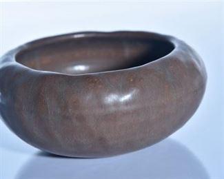 64. Rookwood Pottery Matte Brown Bowl