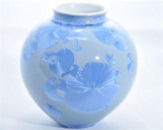 68. Sid Oakley American, 20th C. Enameled Vase