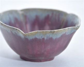 72. Fulper Pottery Matte Purple Bowl