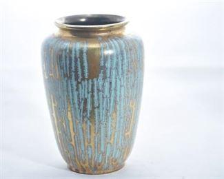 74. CopperGlazed Pottery Vase