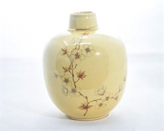 75. Hyalyn Pottery Hand Painted Cherry Blossom Vase