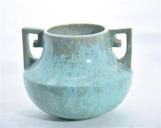 76. Fulper Pottery Vase with Handles